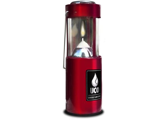 UCO Kynttilälyhty retkivalo , punainen